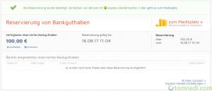 Bitcoin.de Reservierung bestätigt
