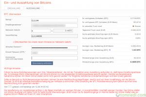 bitcoin.de Auszahlung