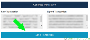 MyEtherWallet send transaction