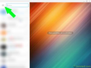 Telegram Desktop Menü Zweistufige Bestätigung