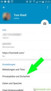 Telegram Privatsphäre und Sicherheit Mehrstufige Bestätigung