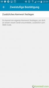 Telegram Zweistufige Bestätigung Vorgang starten