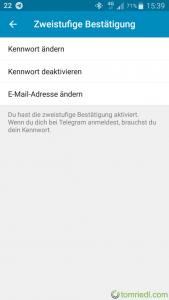 Telegram Passwort ändern E-Mail ändern