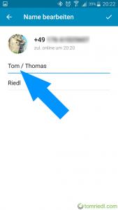 Telegram Spitzname Vorname ändern