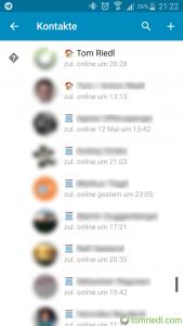 Telegram kategorisierte Kontakte